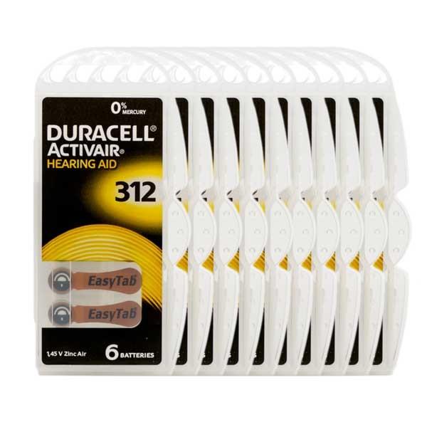 Sparpack 60x Duracell A312 Premium Hörgerätebatterien