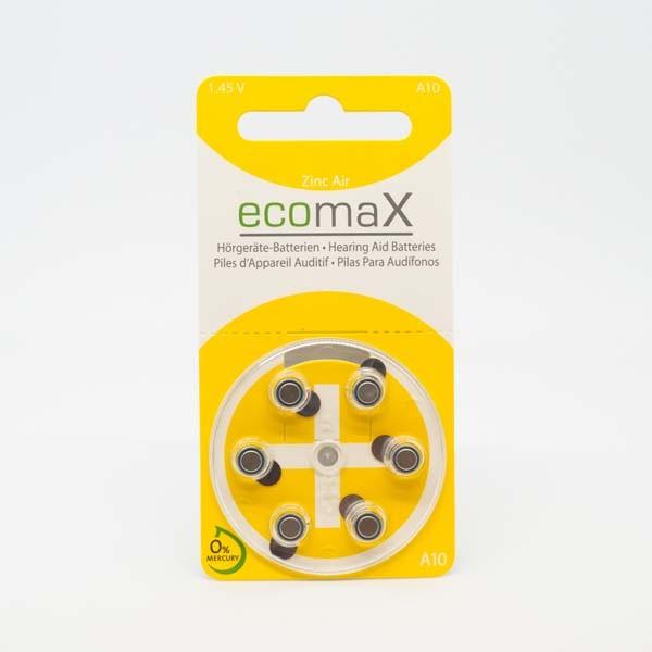 ecomaX A10 Hörgerätebatterien
