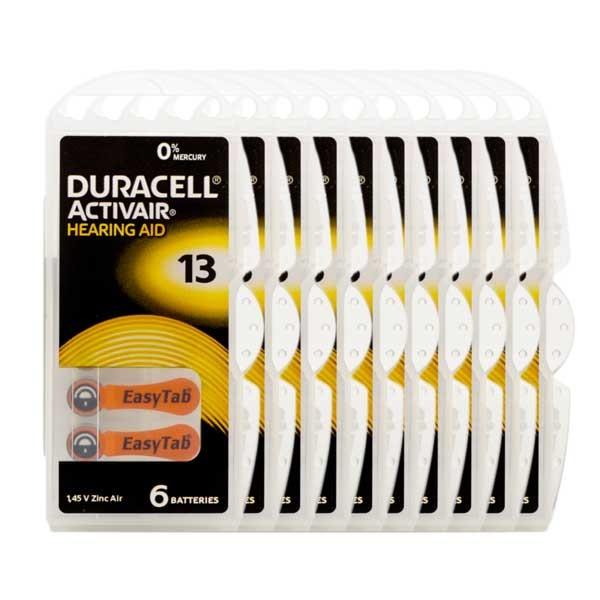 Sparpack 60x Duracell A13 Premium Hörgerätebatterien