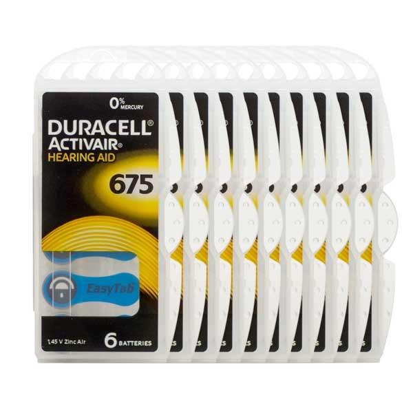 Sparpack 60x Duracell A675 Premium Hörgerätebatterien